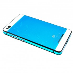 Aluminium Tempered Glass Hard Case for Xiaomi Mi4i - Blue