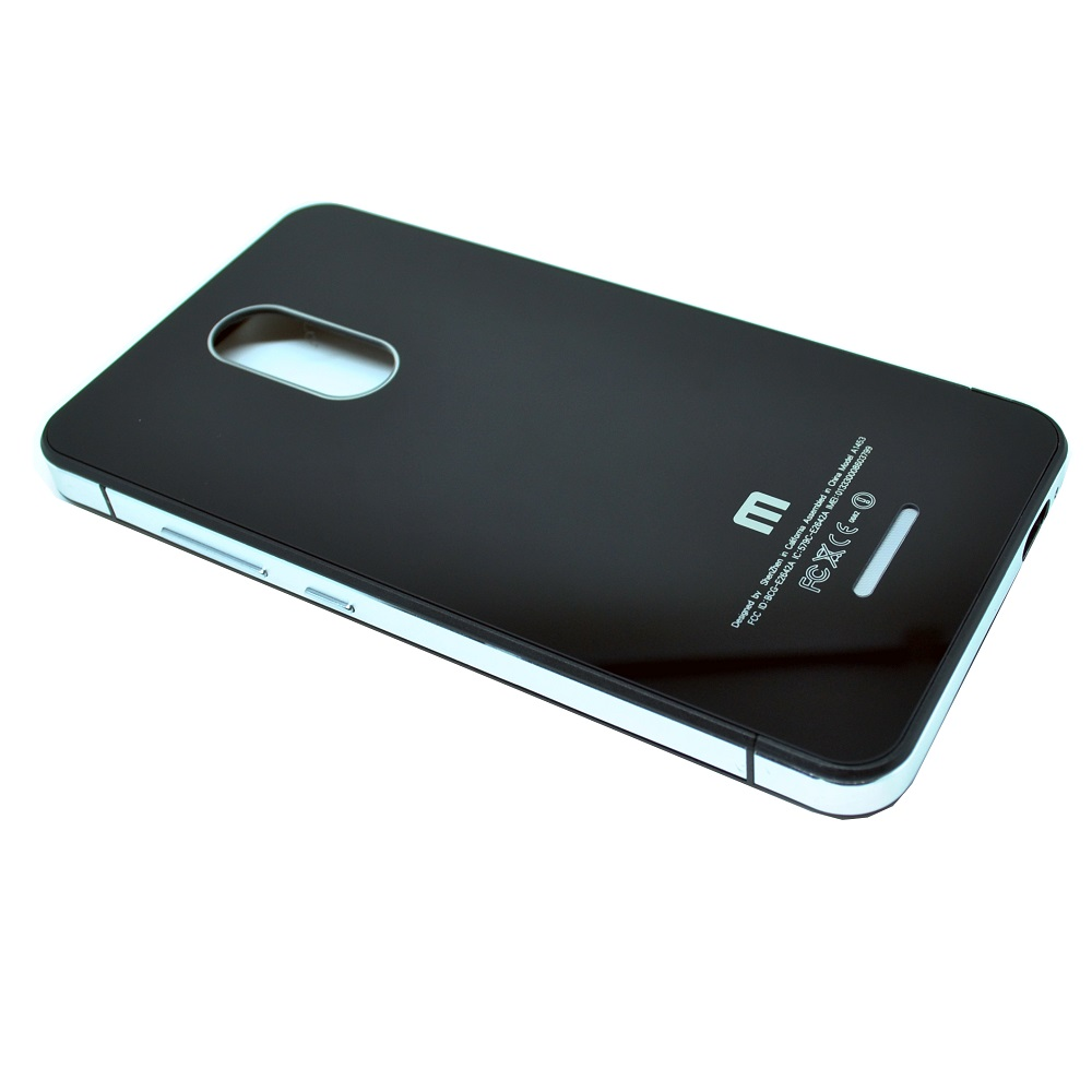aluminium tempered glass hard case for xiaomi redmi note 3