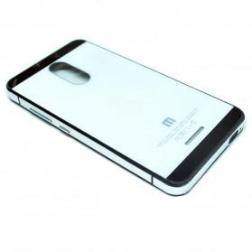 Aluminium Tempered Glass Hard Case for Xiaomi Redmi Note 3 / Note 3 Pro (KENZO) - White/Black