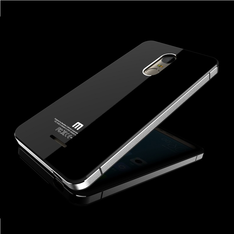 Back Door Glass Hardcase Xiaomi Redmi Note 3 Pro Black Gold ...