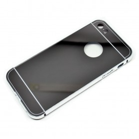 Aluminium Bumper with Mirror Back Cover for iPhone 5/5s/SE - Silver