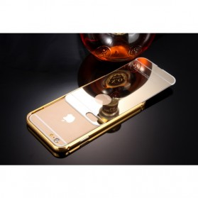 Aluminium Bumper with Mirror Back Cover for iPhone 6/6s - Golden - 8