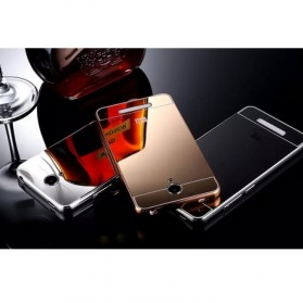 Aluminium Bumper with Mirror Back Cover for Xiaomi Redmi Note 2 - Golden - 6