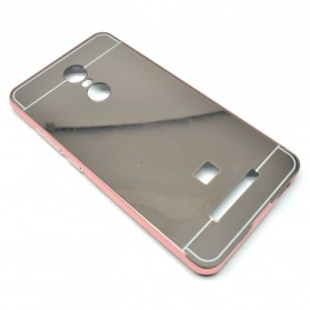 Aluminium Bumper with Mirror Back Cover for Xiaomi Redmi Note 3 / Note 3 Pro (KENZO) - Pink