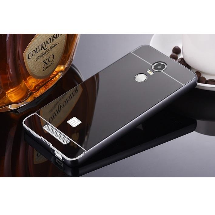 best service a3908 21bbf Aluminium Bumper with Mirror Back Cover for Xiaomi Redmi Note 3 / Note 3  Pro (KENZO) - Black