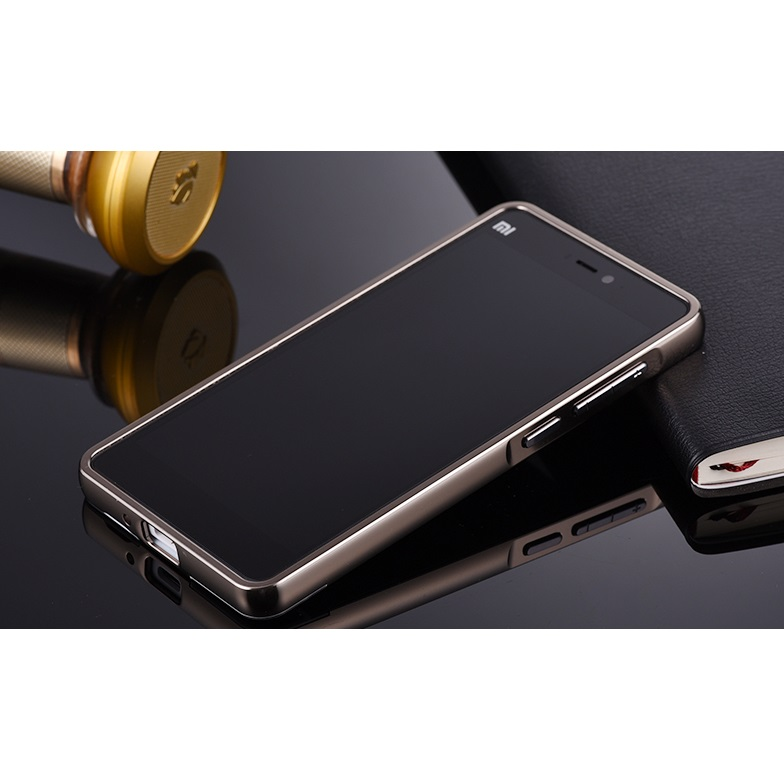 ... Aluminium Bumper with Mirror Back Cover for Xiaomi Mi 4i 4c Black 2