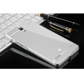 Aluminium Bumper with PC Back Cover for Xiaomi Redmi Note - Silver - 1