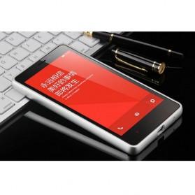 Aluminium Bumper with PC Back Cover for Xiaomi Redmi Note - Silver - 2