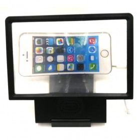 Enlarge Screen Magnifier Bracket Stand 3D with Speaker for Smartphone - PA0964 - Black