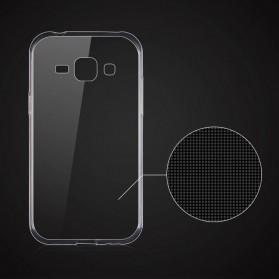 Ultra Thin TPU Case for Samsung Galaxy J1 2015 - Transparent - 4