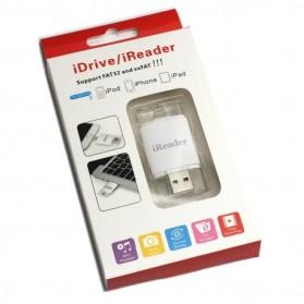 iReader Lightning Card Reader Micro SD Slot - White - 3