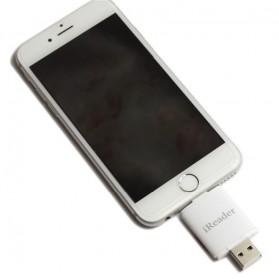 iReader Lightning Card Reader Micro SD Slot - White - 5