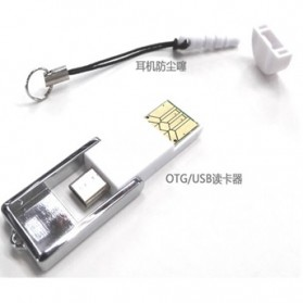 Mini OTG USB Card Reader Connection Kit - White