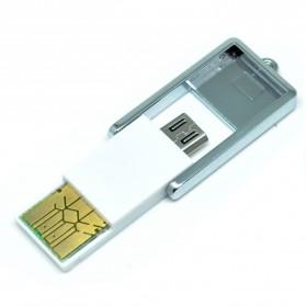 Mini OTG USB Card Reader Connection Kit - White - 2