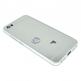 Aluminium Bumper with Mirror Back Cover for Xiaomi Mi5 - Silver