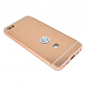 Aluminium Bumper with Mirror Back Cover for Xiaomi Mi5 - Rose Gold