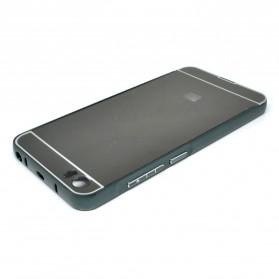 Aluminium Bumper with Mirror Back Cover for Xiaomi Mi5 - Black - 2