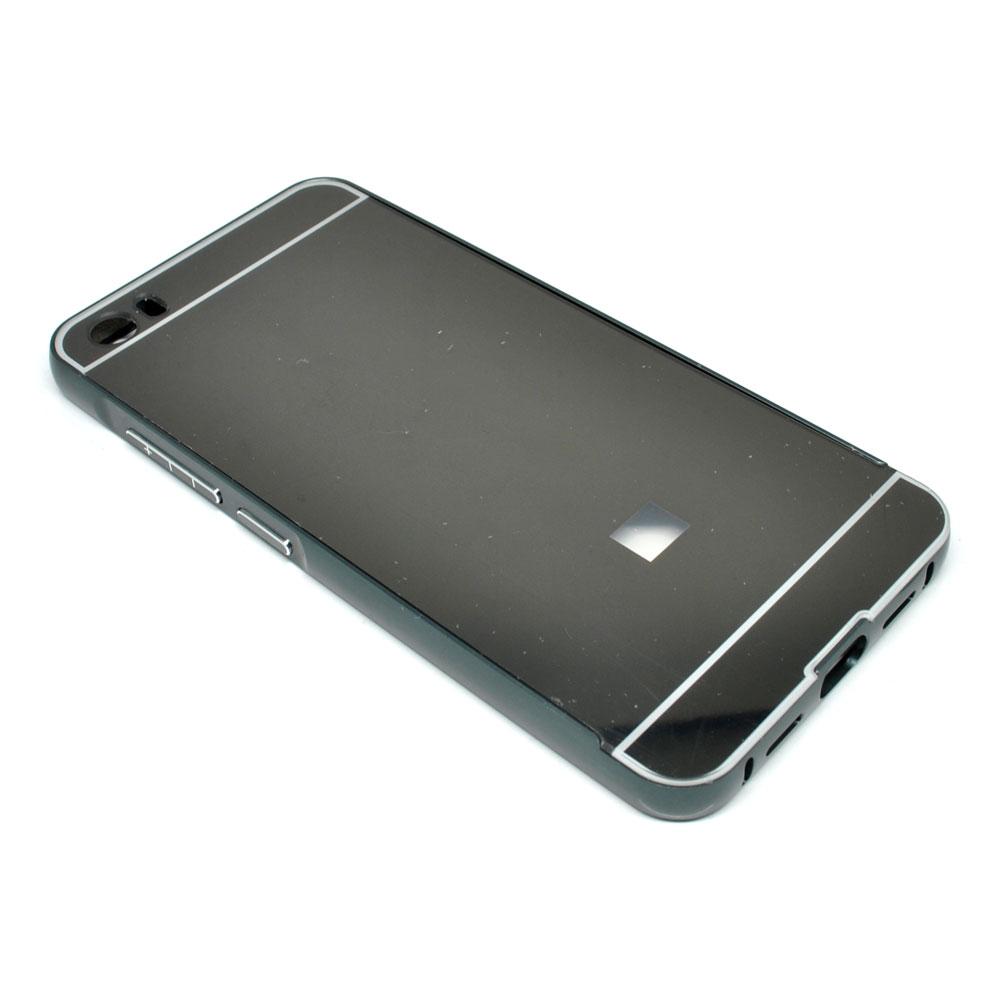 ... Aluminium Bumper with Mirror Back Cover for Xiaomi Mi5 - Black - 1 ...