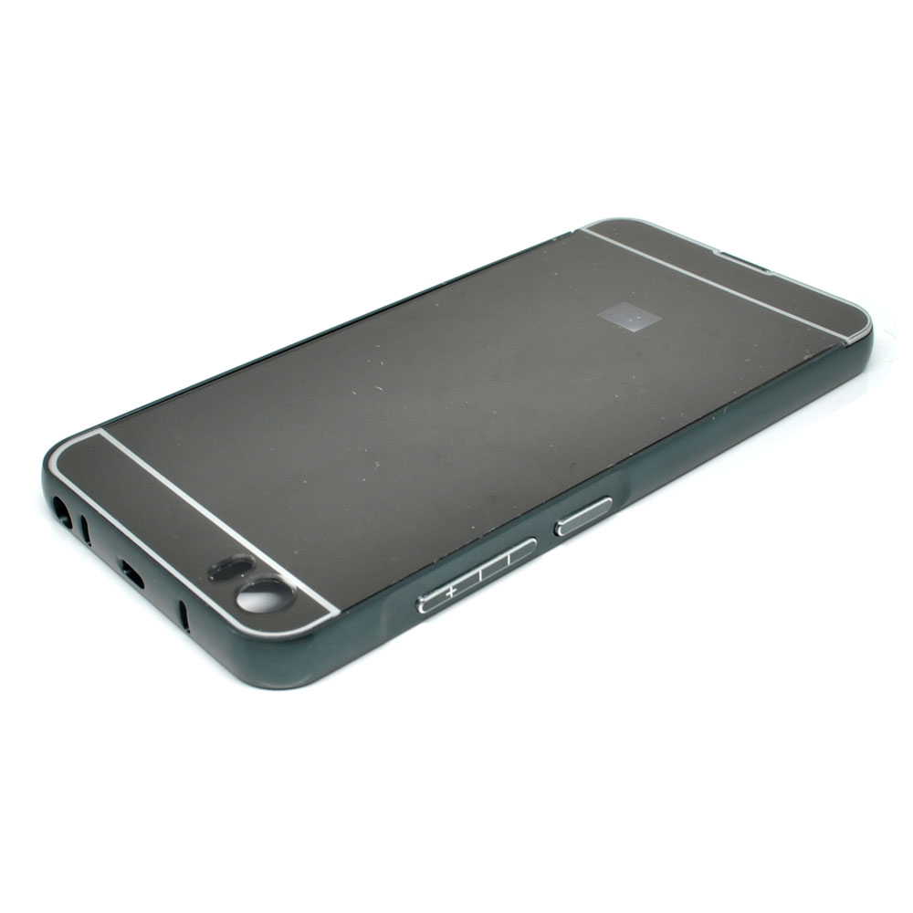 ... Aluminium Bumper with Mirror Back Cover for Xiaomi Mi5 - Black - 2 ...