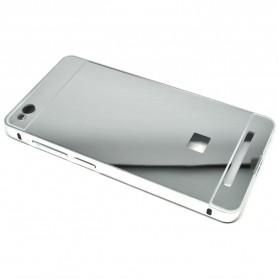 Aluminium Bumper with Mirror Back Cover for Xiaomi Redmi 3 - Silver - 3
