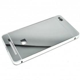 Aluminium Bumper with Mirror Back Cover for Xiaomi Redmi 3 - Silver - 4