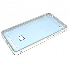 Aluminium Bumper with Mirror Back Cover for Xiaomi Redmi 3 - Silver - 5