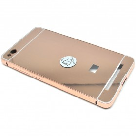 Aluminium Bumper with Mirror Back Cover for Xiaomi Redmi 3 - Rose Gold - 3