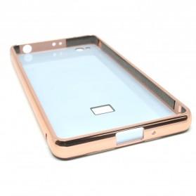 Aluminium Bumper with Mirror Back Cover for Xiaomi Redmi 3 - Rose Gold - 6