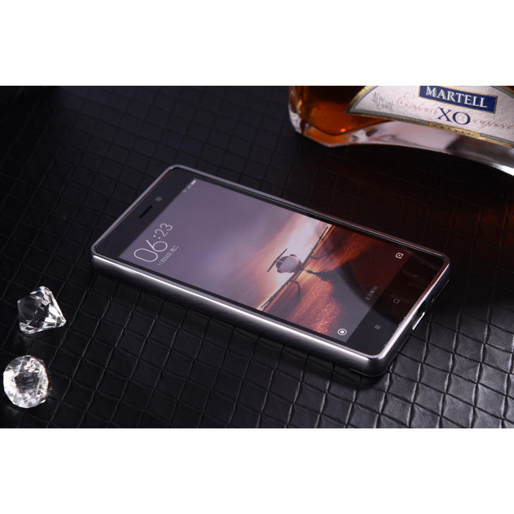 Aluminium Bumper With Mirror Back Cover For Xiaomi Redmi 3 Black Samsung Note 4 Backcase Metal 6