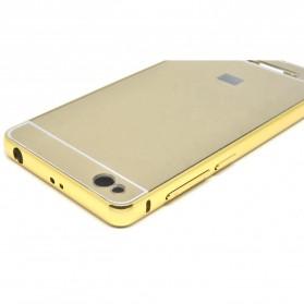 Aluminium Bumper with Mirror Back Cover for Xiaomi Redmi 3 - Golden - 4