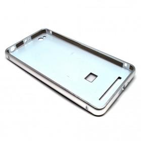 Aluminium Bumper Case with Arcylic Back for Xiaomi Redmi 3 - Silver - 2