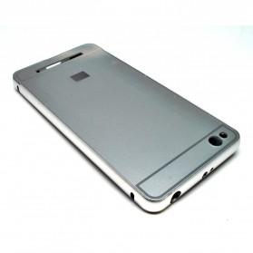Aluminium Bumper Case with Arcylic Back for Xiaomi Redmi 3 - Silver - 3