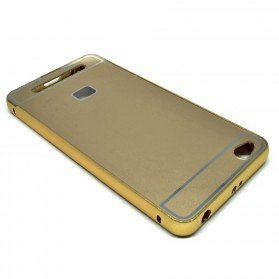 Aluminium Bumper Case with Arcylic Back for Xiaomi Redmi 3 - Golden