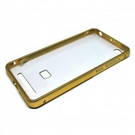 Aluminium Bumper Case with Arcylic Back for Xiaomi Redmi 3 - Golden - 2