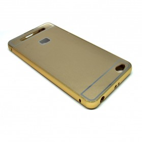 Aluminium Bumper Case with Arcylic Back for Xiaomi Redmi 3 - Golden - 3