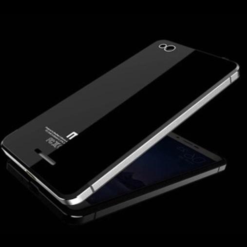 Aluminium Tempered Glass Hard Case for Xiaomi Redmi 3 Black Silver 5 .