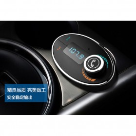 Bluetooth Car FM Transmitters with Call Function - Black - 7