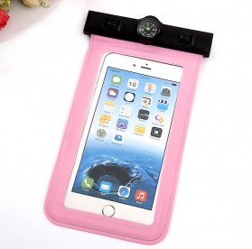 Waterproof Bag for Smartphone 5.5 Inch with Compass - Orange - 2