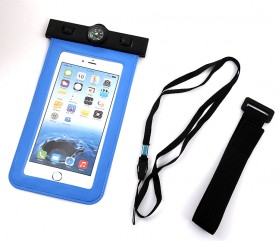 Waterproof Bag for Smartphone 5.5 Inch with Compass - Orange - 4