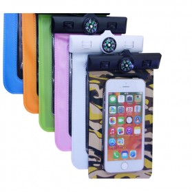 Waterproof Bag for Smartphone 5.5 Inch with Compass - Orange - 5