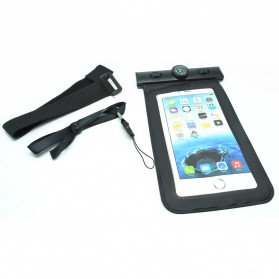 Waterproof Bag for Smartphone 5.5 Inch with Compass - Black