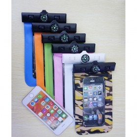 Waterproof Bag for Smartphone 5.5 Inch with Compass - Green - 5