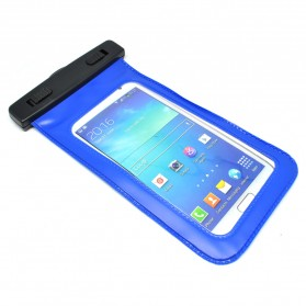 Waterproof Bag PVC + ABS Clip for iPhone 6 Plus - Blue