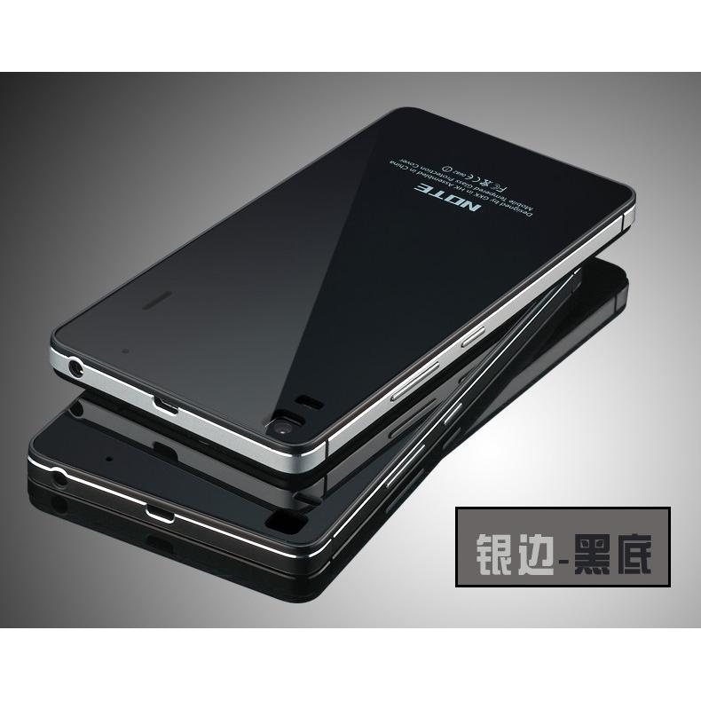 cheap for discount fbf6f 43c79 Aluminium Bumper Case with Mirror Back for Lenovo K3 Note A7000 -  Black/Black