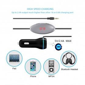 Handsfree Car FM Music Transmitters or Smartphone - FM27 - Black - 3