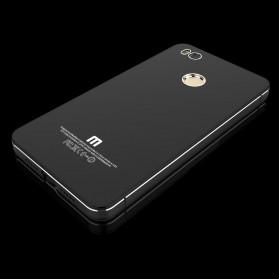 Aluminium Tempered Glass Hard Case for Xiaomi Mi4s - Black/Black - 2