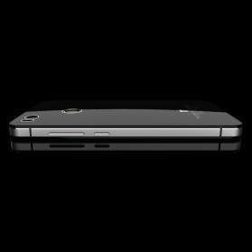 Aluminium Tempered Glass Hard Case for Xiaomi Mi4s - Black/Black - 3