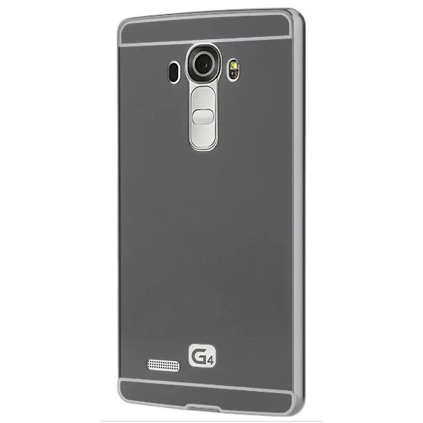 Aluminium Bumper With Mirror Back Cover For Lg G4 Black