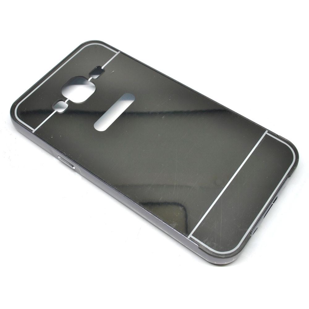 ... Aluminium Bumper with Mirror Back Cover for Samsung Galaxy J5 2015 - Black - 1 ...