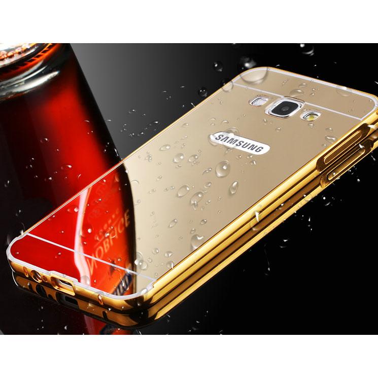 ... Aluminium Bumper with Mirror Back Cover for Samsung Galaxy J2 2015 - Black - 4 ...